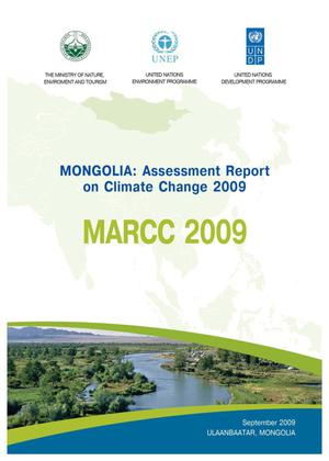 Primary view of object titled 'Mongolia Assessment Report on Climate Change 2009'.