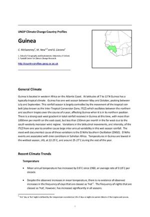 Primary view of object titled 'UNDP Climate Change Country Profiles: Guinea'.