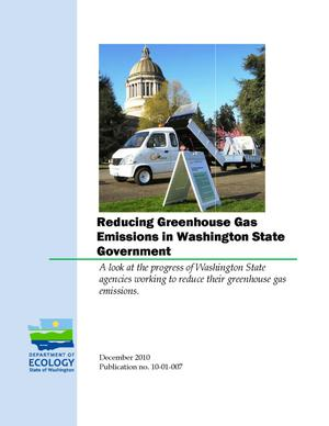 Primary view of object titled 'Reducing Greenhouse Gas Emissions in Washington State Government'.