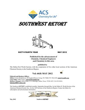 Primary view of object titled 'Southwest Retort, Volume 64, Number 8, May 2012'.