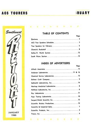 Primary view of object titled 'Southwest Retort, Volume 32, Number 5, January 1980'.