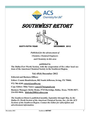 Primary view of object titled 'Southwest Retort, Volume 65, Number 4, December 2012'.