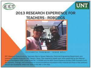 2013 Research Experience for Teachers - Robotics