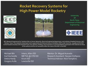 Rocket Recovery Systems for High Power Model Rocketry