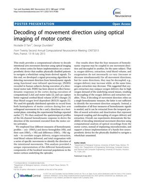 Primary view of object titled 'Decoding of movement direction using optical imaging of motor cortex'.