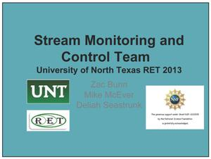 Primary view of object titled 'Stream Monitoring and Control Team'.