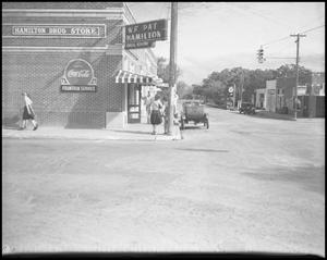 Primary view of object titled '[Hamilton Drug Store, 1942]'.