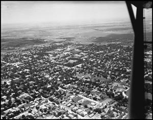 Primary view of object titled '[Campus - Aerial - Welch Ave. - 1948]'.