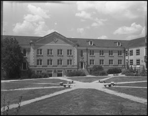 Primary view of object titled '[Back of Chilton Hall - Exterior - 1953]'.