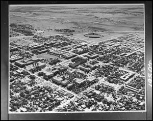 Primary view of object titled '[Campus - Aerial - Campus Buildings - 1960]'.