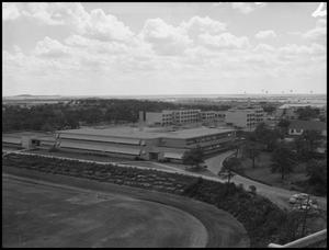 Primary view of object titled '[Aerial Photograph of North Texas State College - June 10, 1956 #1]'.