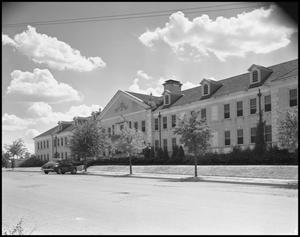 Primary view of object titled '[Front of Chilton Hall - Exterior - 1942]'.