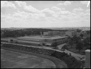 Primary view of object titled '[Aerial Photograph of North Texas State College - June 10, 1956 #2]'.