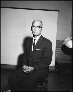Primary view of object titled '[Photograph of Dr. Jess Cearly Physical Education Director, May 16, 1962 #2]'.