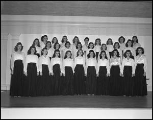 Primary view of object titled '[All Female Campus Choir, 1942]'.