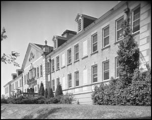 Primary view of object titled '[Front Side Right Angle of Chilton Hall - Exterior - 1954]'.