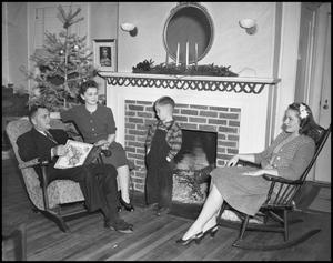 Primary view of object titled '[A Family During a Christmas Holiday, 1942]'.