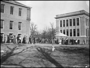 Primary view of object titled '[Campus - Scene - Students Walking]'.
