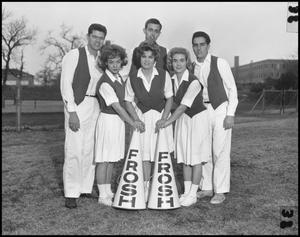 Primary view of object titled '[Frosh Cheerleaders, January 1962]'.