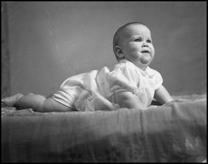 Primary view of object titled '[Baby Posing for a Photograph, 1942]'.