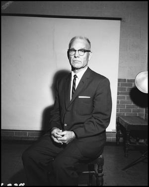 Primary view of object titled '[Photograph of Dr. Jess Cearly Physical Education Director, May 16, 1962 #1]'.