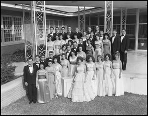 Primary view of object titled '[Campus Choir Posing Outside]'.