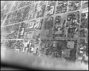 Primary view of object titled '[Campus - Aerial - Main Avenues - 1962]'.