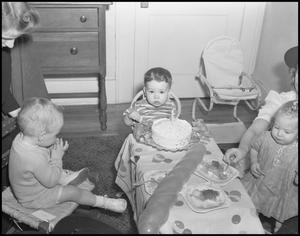 Primary view of object titled '[Birthday Boy and His Party, 1942]'.