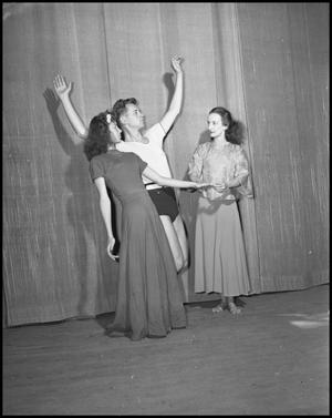 Primary view of object titled '[Campus Performers Rehearsing, 1942]'.