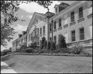 Primary view of object titled '[Front Side of Chilton Hall - Exterior - 1954]'.