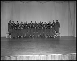 Primary view of object titled '[A Capella Choir on Stage, October 21, 1962 #1]'.