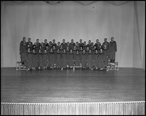 Primary view of object titled '[A Capella Choir on Stage, October 21, 1962 #2]'.