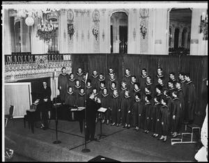 Primary view of object titled '[A Capella Choir Performing, April 1963 #2]'.