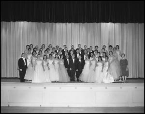 Primary view of object titled '[A Capella Choir Posing for a Photograph, November, 1960]'.