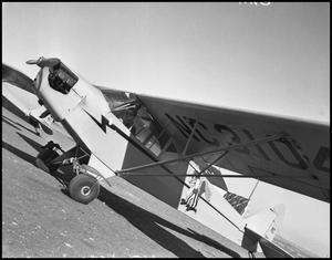 Primary view of object titled '[Civil Aeronautics Authority - Airplane before Takeoff]'.
