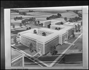 Primary view of object titled '[Architectural rendering of Clark Hall #3]'.