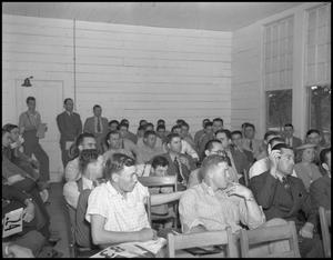 Primary view of object titled '[Students in Lecture Room]'.