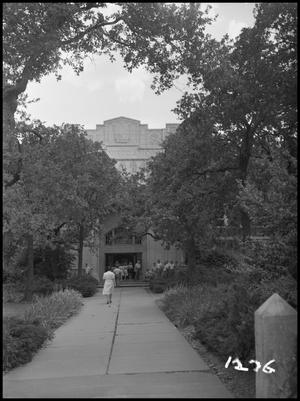 Primary view of object titled '[Commencement in the Administration Building, June 1, 1950]'.
