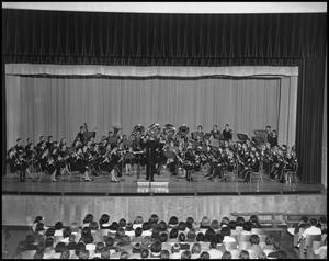Primary view of object titled '[Military Band Concert Performance]'.