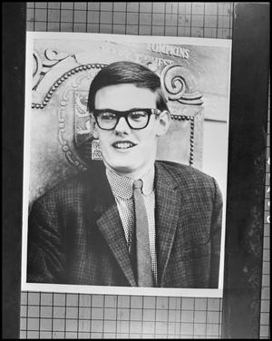 Primary view of object titled '[Portrait of young man with glasses]'.