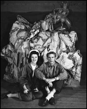 Primary view of object titled '[Couple wearing denim]'.