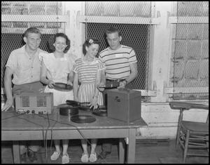 Primary view of object titled '[Students use a record player]'.