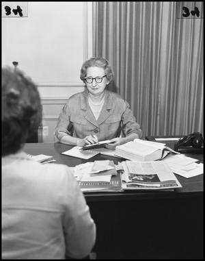 Primary view of object titled '[Imogene Dickey in a Meeting]'.