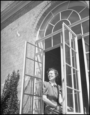 Primary view of object titled '[Woman Looking out Window]'.