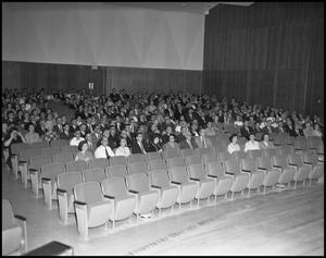 Primary view of object titled '[Auditorium Faculty Meeting]'.