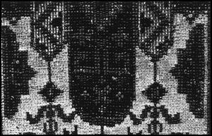 Primary view of object titled '[Woven Detail from a Garment]'.