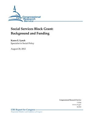 Social Services Block Grant: Background and Funding