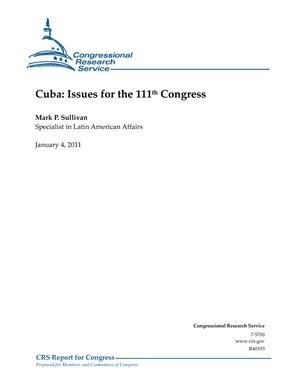 Cuba: Issues for the 111th Congress