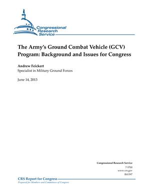 The Army's Ground Combat Vehicle (GCV) Program: Background and Issues for Congress