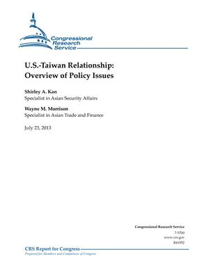 U.S.-Taiwan Relationship: Overview of Policy Issues